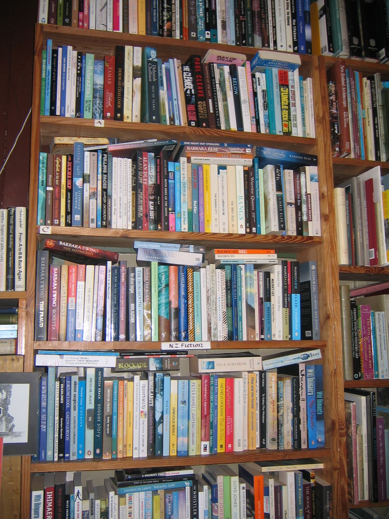 Scribes' Stock Of New Zealand Fiction